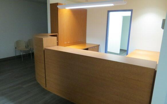 Comptoir de réception – Clinique St-Louis